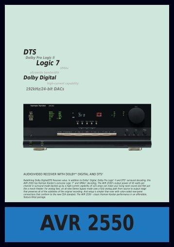 AVR 2550.QXD - Hci-services.com
