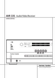 AVR 335 Audio/VideoReceiver - Hci-services.com