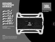 amplificatori di potenza car audio manuale utente - Hci-services.com