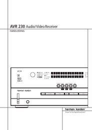 AVR 230 Audio/VideoReceiver - Hci-services.com