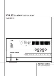 AVR 235 Audio/VideoReceiver - Hci-services.com