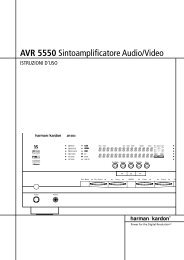 AVR 5550 Sintoamplificatore Audio/Video - Hci-services.com