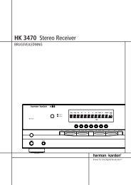 HK 3470 Stereo Receiver - Hci-services.com