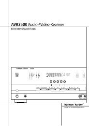 AVR3500Audio-/Video-Receiver - Aerne Menu