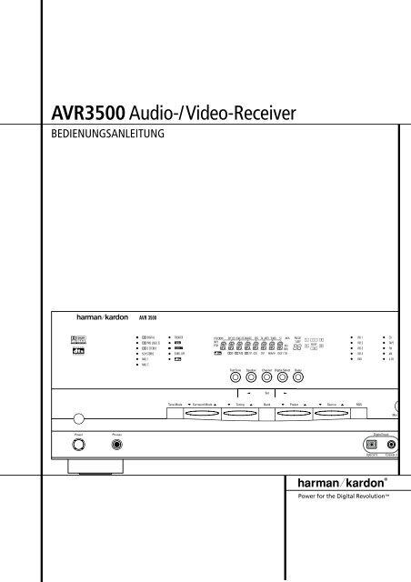 AVR3500Audio-/Video-Receiver - Aerne Menu