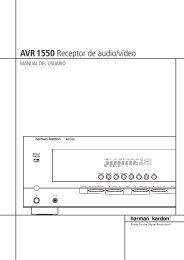 AVR 1550 Receptor de audio/vídeo - Hci-services.com