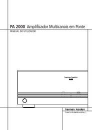 PA 2000 Amplificador Multicanais em Ponte - Hci-services.com