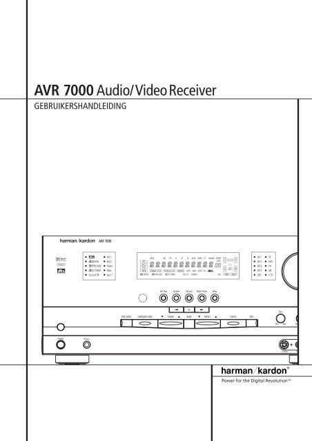 AVR 7000Audio/VideoReceiver - Hci-services.com