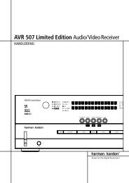 AVR 507 Limited Edition Audio/VideoReceiver - Hci-services.com