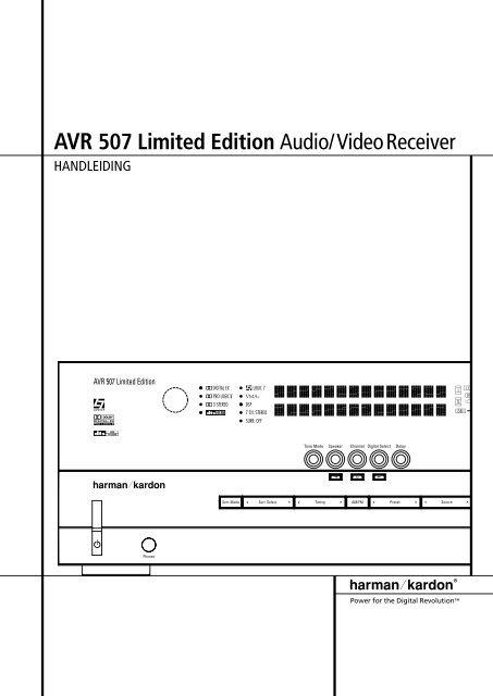 AVR 507 Limited Edition Audio/VideoReceiver - Hci-services.com