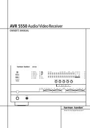 AVR 5550Audio/VideoReceiver - Hci-services.com
