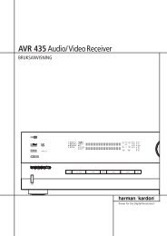 AVR 435Audio/VideoReceiver - Hci-services.com
