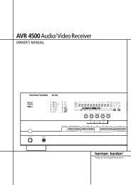 AVR 4500Audio/VideoReceiver - Hci-services.com