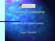 Leadership in a global context