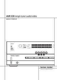 AVR 330 Ampli-tuner audio/vidéo - Hci-services.com
