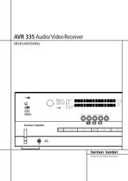 AVR 335Audio/VideoReceiver - Hci-services.com