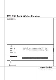 AVR 635 Audio/Video Receiver - Hci-services.com