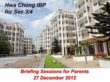 Hwa Chong IBP for Sec 3/4