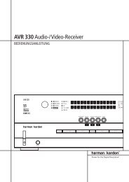 AVR 330Audio - Aerne Menu