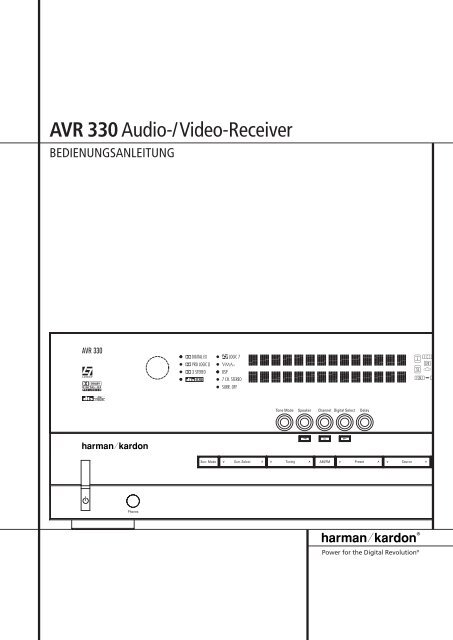 AVR 330Audio - Aerne Menu
