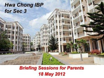 Hwa Chong IBP for Sec 3