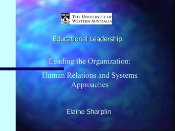 Human Relations and Systems Approaches