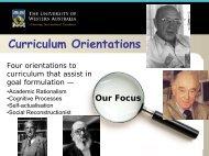EDUC 8678 @ HCI-March 2010 - Day 3 - Curriculum Orientations
