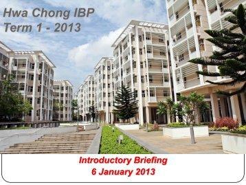 Hwa Chong IBP Term 1 - 2013