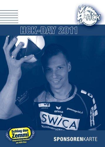 SponSorenkarte - HC Kriens-Luzern
