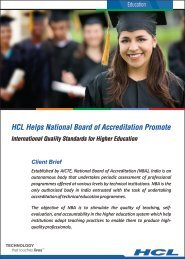 Higher Education - HCL Infosystems