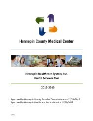 View the Health Services Plan - Hennepin County Medical Center