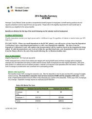 Benefits Summary for AFSCME Union Employees - Hennepin ...