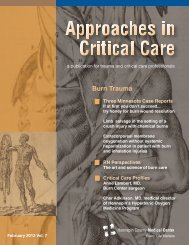 Burn Trauma, RN Perspectives and Critical Care - Hennepin County ...