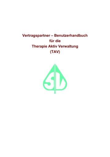 Vertragspartner – Benutzerhandbuch für die Therapie Aktiv ...