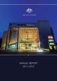 ANNUAL REPORT 2011?2012 - High Court of Australia