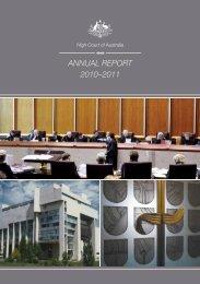 ANNUAL REPORT 2010?2011 - High Court of Australia