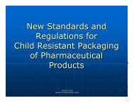 New Standards and Regulations for Child Resistant ... - HCPC Europe