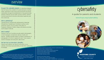 Cyber Safety Brochure - Harford County Public Schools