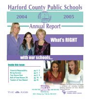Harford County Public Schools Annual Report