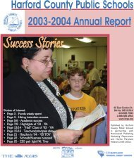 2003-04 Annual Report - Harford County Public Schools