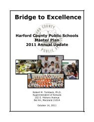 HCPS Master Plan 2011 Annual Update - Harford County Public ...