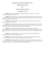 Resolutions - Harford County Public Schools