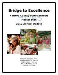 HCPS Master Plan 2012 Annual Update - Harford County Public ...