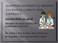 total enrollment on 9/30/2008 - Harford County Public Schools