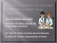 total enrollment on 9/30/2009 - Harford County Public Schools