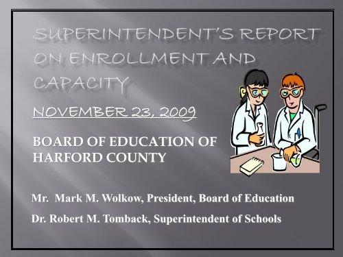 total enrollment on 9/30/2009 - Harford County Public Schools