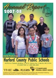 2007-08 Annual Report - Harford County Public Schools