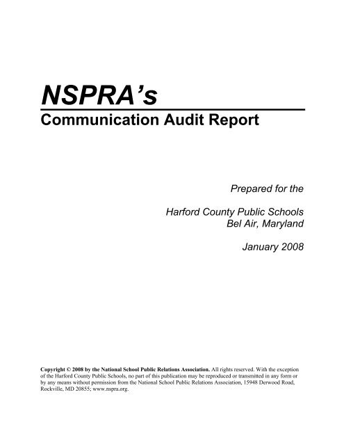 NSPRA's Communication Audit Report - Harford County Public ...