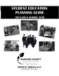 student education planning guide - Harford County Public Schools