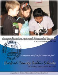 FY 2009 Comprehensive Annual Financial Report - Harford County ...